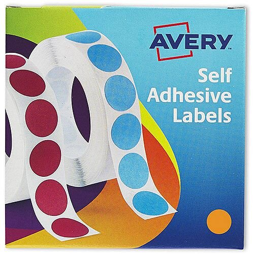 Avery Label Dispenser 19mm Diameter Orange Ref 24-608 [1120]