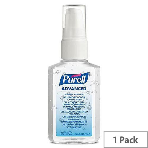 PURELL Advanced Hygienic Hand Rub 60ml Pump Spray (Pack 1)