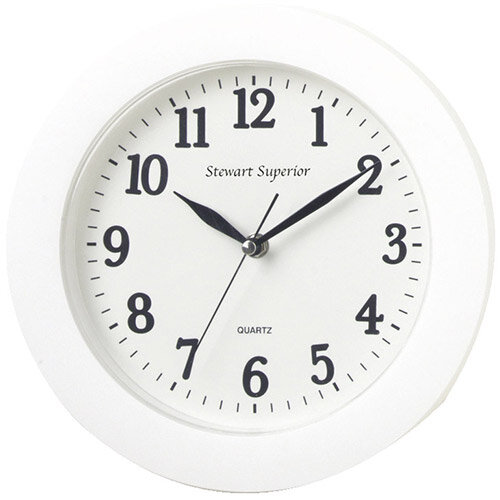 12 hour Dial White Plastic Wall Clock