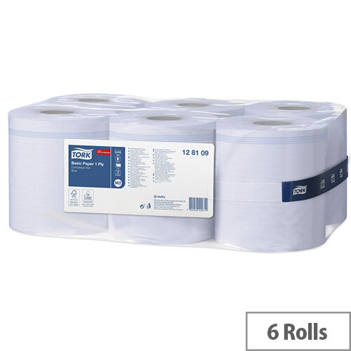 Tork Dispenser Centrefeed Cleaning Paper Towel Tissue Rolls 1-Ply 210mm x 300m Blue (Pack 6)