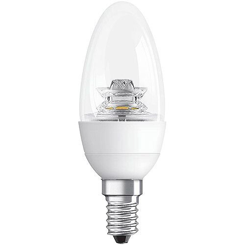 GE Bulb LED Candle 6W 40W Equivalent SES Clear Ref 84550
