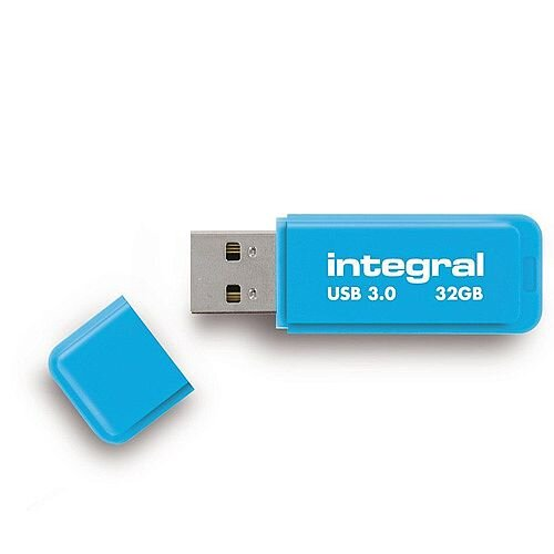 Integral Neon Memory Stick USB 3.0 Blue 32GB