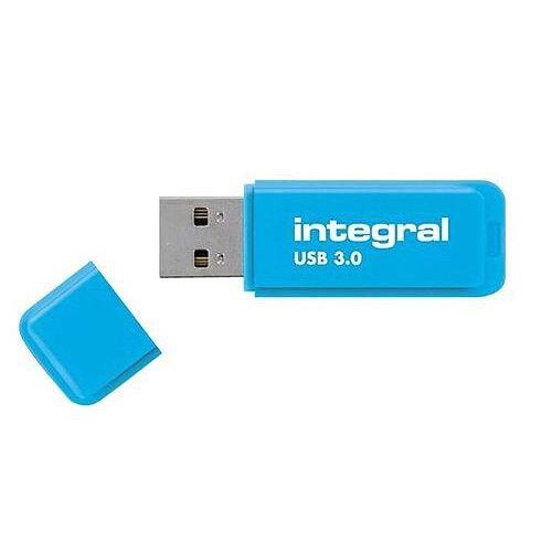 Integral Neon Memory Stick USB 3.0 Blue 64GB