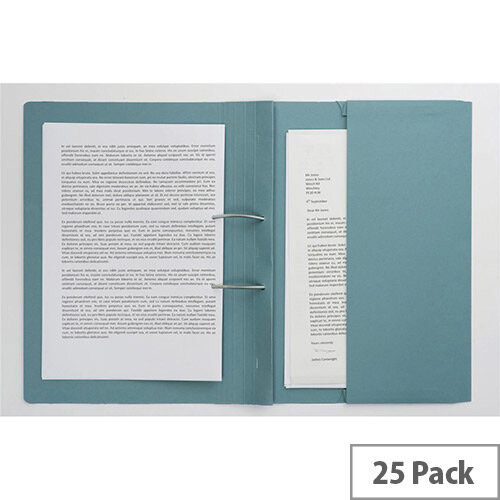 Guildhall Transfer Spring File 315gsm Back Pocket Foolscap Blue 211/9060Z [Pack 25]