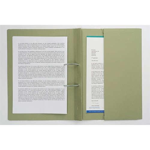 Guildhall Transfer Spring File 315gsm Back Pocket Foolscap Green 211/9062Z [Pack 25]