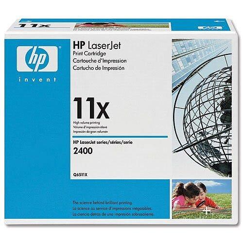 HP 11X High Yield Black Laserjet Toner Cartridge Q6511X