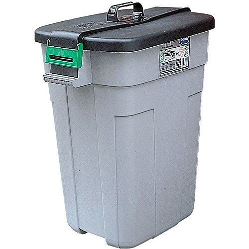 Addis Heavy Duty Dustbin 90 Litres Capacity Easy-Grip Handle 610 x 425 x 755mm Grey