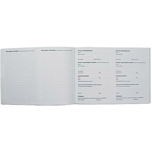 Collins Accident Report Book A5 Landscape 148x210mm Ref ARB2