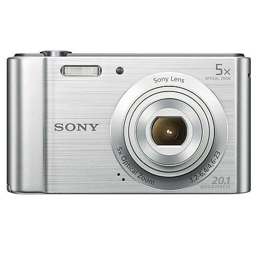 Sony DSC-W800 Digital Camera Kit 2.7in LCD 5x Zoom 20.1MP Silver Ref SON2463