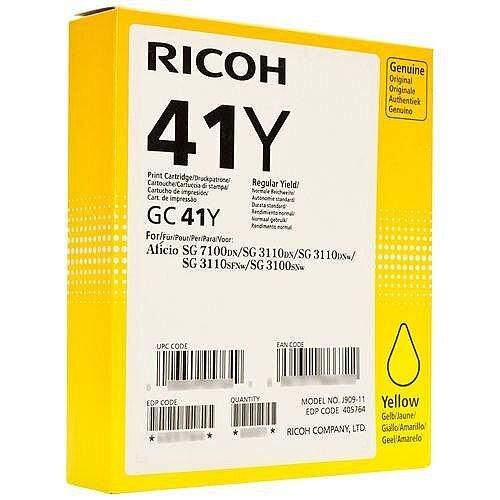 Ricoh 405764 GC41Y Toner Cart HY Yellow