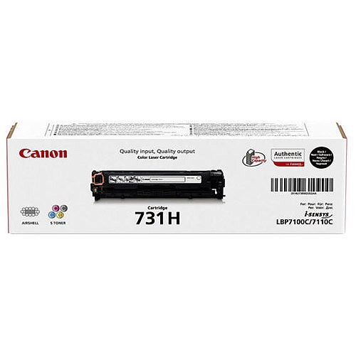 Canon 731H Black High Capacity Laser Toner Cartridge 6273B002