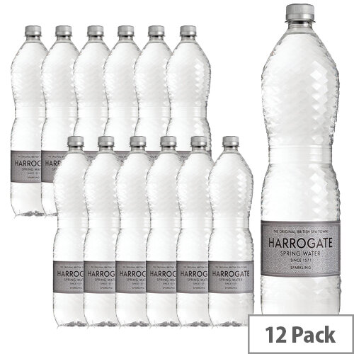 Harrogate Sparkling Water 1.5L Bottles Pack of 12 Ref P150122C