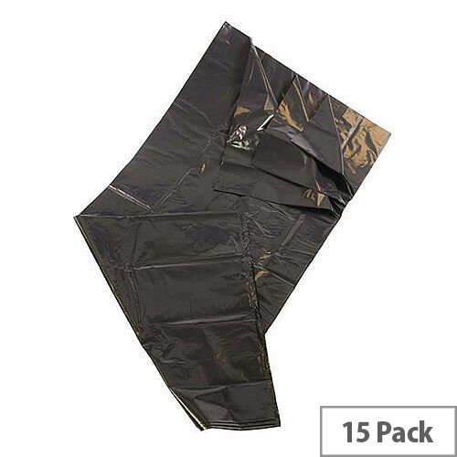 Medium Duty Wheelie Bin Refuse Sacks 380L Black