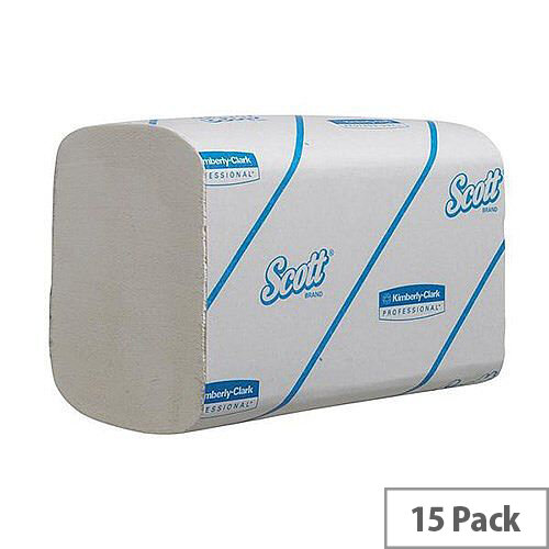 Kimberly Clark Scott XTRA Interfolded Hand Towels Small 320 Towels Per Sleeve 15 Sleeves (4800 Sheets) 6669