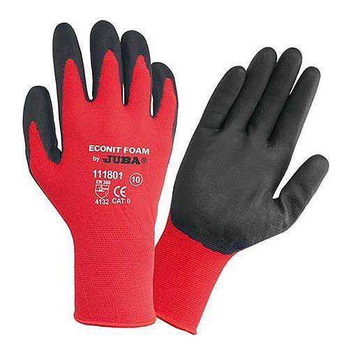 Juba Gloves Nitrile Foam Coated 15 Gauge Red/Black Size 9 M/L-Men or XXL-Women Pack 1 Ref 303188090