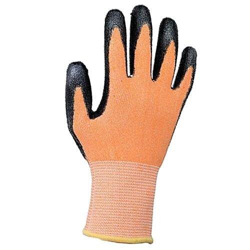 Keepsafe Safety Gloves PU Coated Orange/Black Size 8 S/M-Men or L-Women Pack 1 Ref 303619080