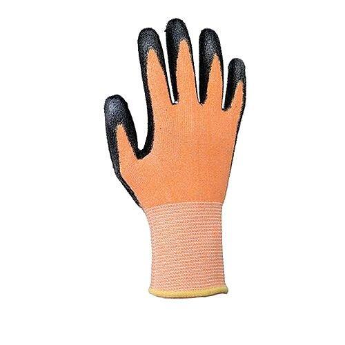 Keepsafe Safety Gloves Heavy-duty Level 3 PU Coated Orange/Black Size 9 M/L-Men or XXL-Women