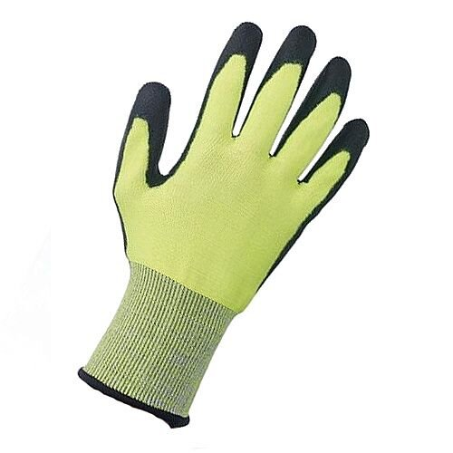 Keepsafe Safety Gloves PU Coated Green/Black Size 9 M/L-Men or XXL-Women Pack 1 Ref 303620090