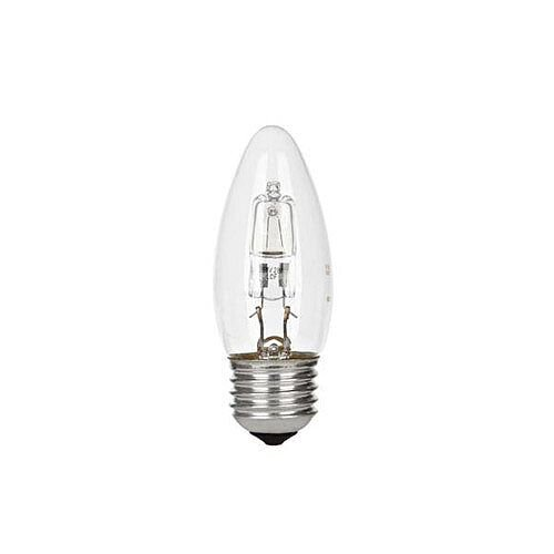GE Lighting (240W) Candle Dimmable Halogen Bulb D Energy Rating 405 Lumens (Pack of 12) 98391