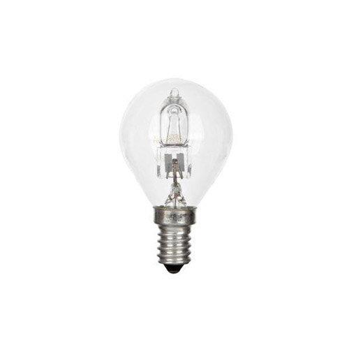 GE Lighting (240W) Spherical Dimmable Halogen Bulb D Energy Rating 415 Lumens (Pack of 12) 98378