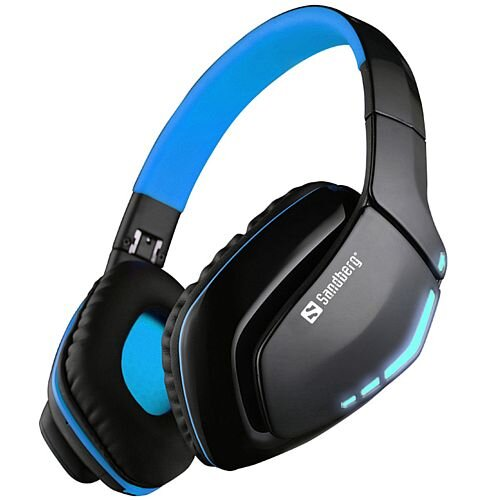 Sandberg Blue Storm Wireless Gaming Headset Bluetooth 10m Range - 10 Hours Battery