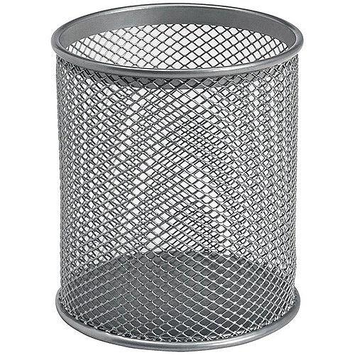 Wire Mesh Pencil Holder - Silver