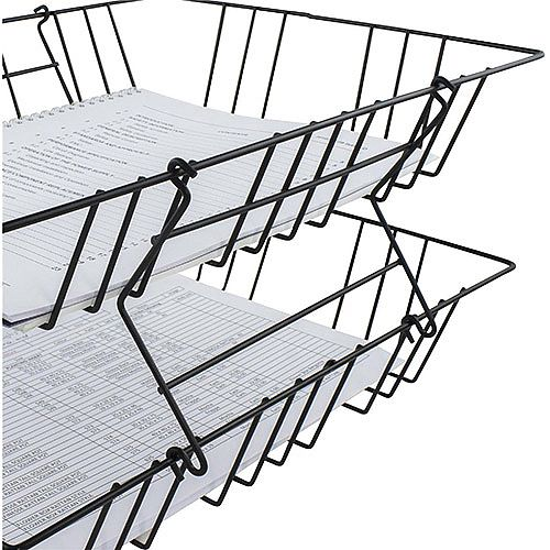 Wire Letter Tray Risers  Pack of 2