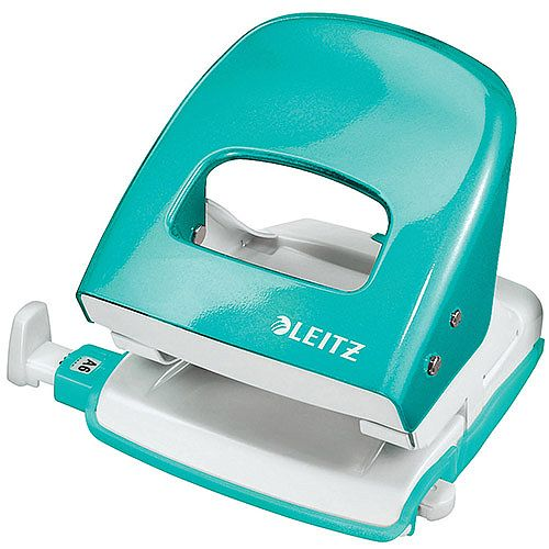 Leitz NeXXt Series WOW Metal Office Hole Punch 3m 30 Sheet  Ice Blue