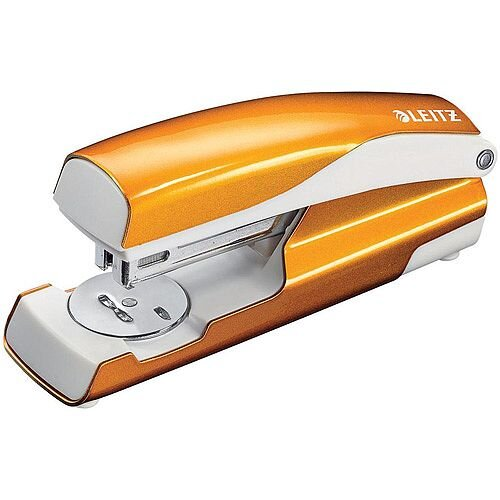 Leitz NeXXt WOW Stapler 3mm 30 Sheet Orange Ref 55021044L