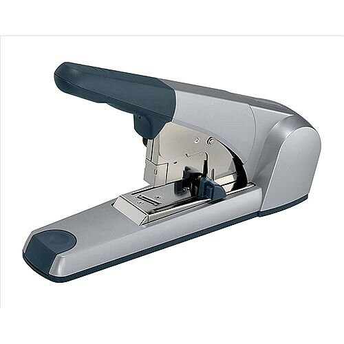 Leitz 5553 Heavy Duty Flat Clinch Metal Stapler Grey 120 Sheets of 80gsm Paper