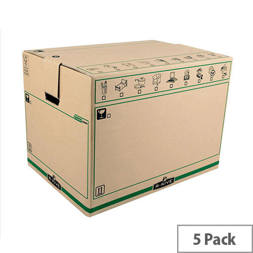 Fellowes Bankers Box SmoothMove Extra Large Removal Boxes 457x609x457mm Pack of 5  Ref 885029