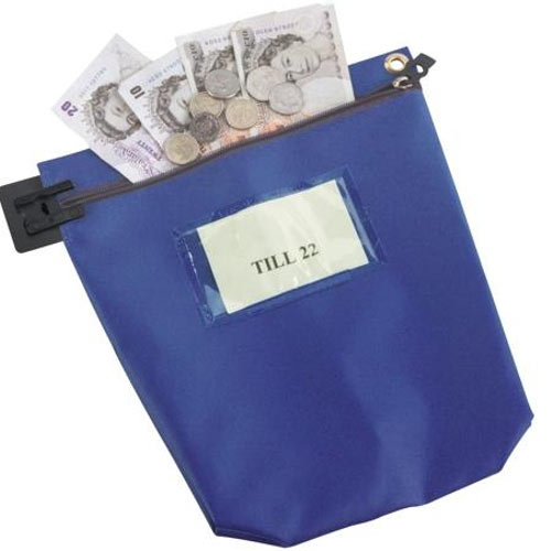 Blue Medium Cash Bag