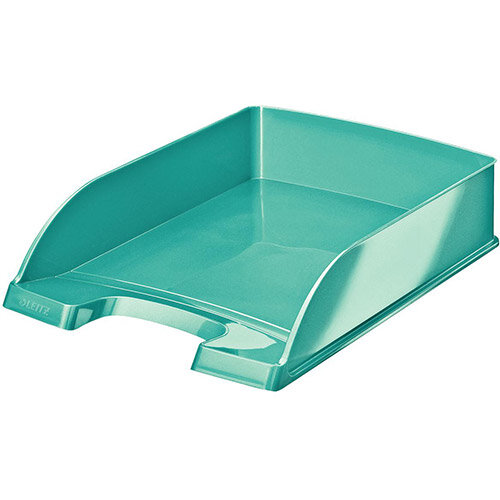 Leitz WOW  A4  Letter Tray  Ice Blue Pack of 5