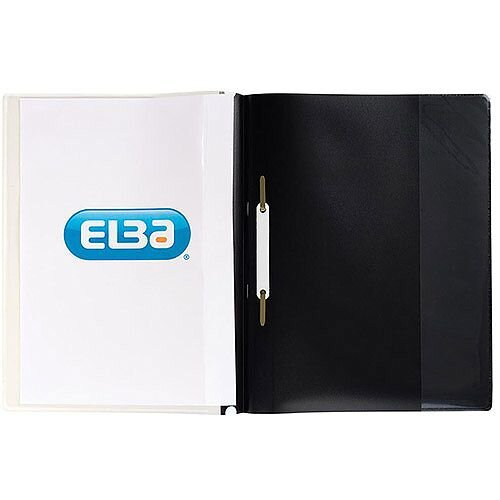 Elba Quotation  A4  PVC Folders 160-Sheets  Black  Pack of 25