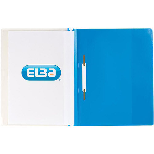 Elba Quotation  A4  PVC Folders 160-Sheets  Blue  Pack of 25
