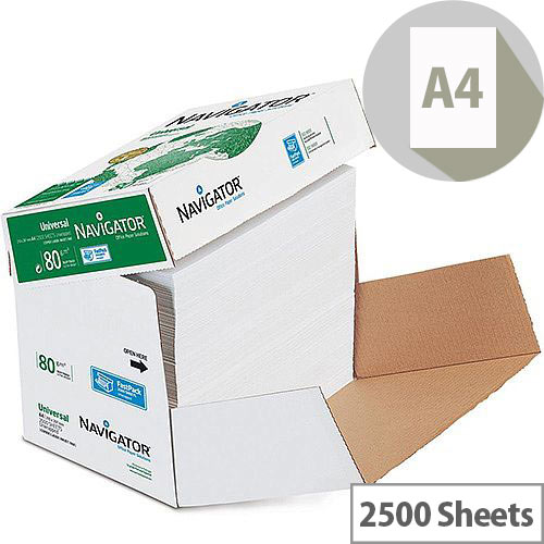 Navigator A4 Universal Paper 80gsm Fast Pack of 2500 Sheets