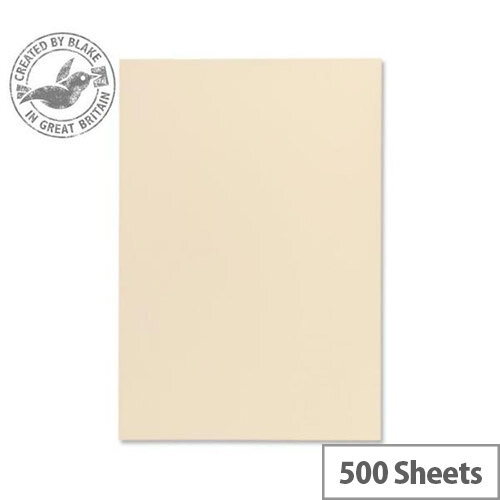 Blake A4 120gsm Wove Finish Cream Premium Paper 500 Sheets 61677