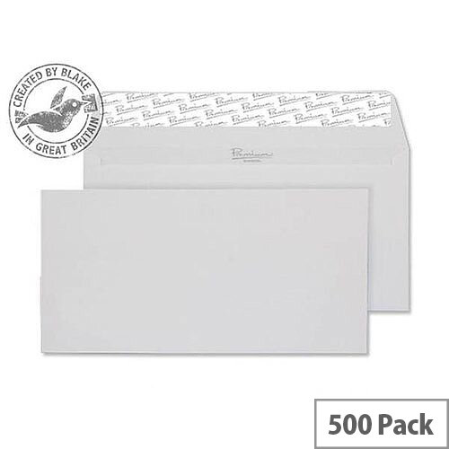 Blake DL Diamond White Premium Business Laid Wallet Envelopes 120gsm Pack of 500