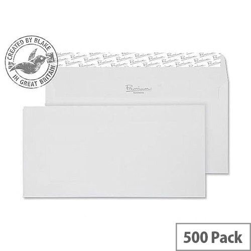 Blake High White DL Premium Business Wove Wallet Envelopes 120gsm Pack of 500
