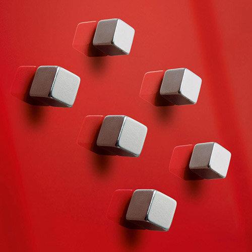Sigel SuperDym  C5  Strong Magnets  Silver  for artverum Magnetic Glass Boards