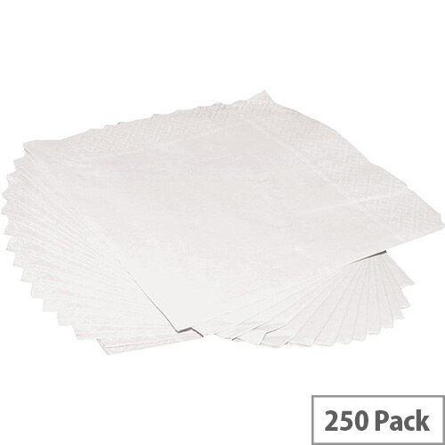 Luxury Cocktail Paper Napkins 2-Ply Tissue 250x250mm (Pack 250) White