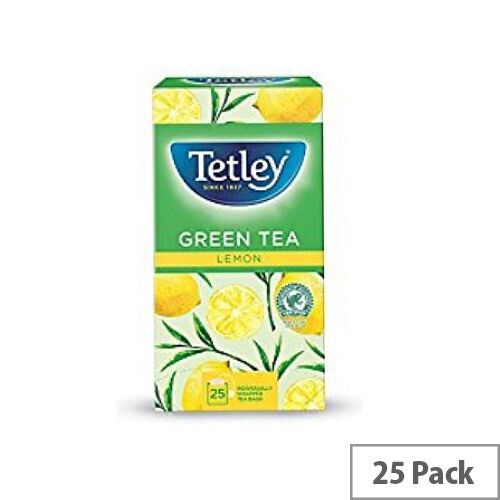 Tetley Tea Bags Green Tea with Lemon Pack 25