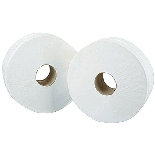 Maxima Mini Jumbo Dispenser Toilet Refill Paper Tissue Rolls 200m Pack 12 KMAX2500