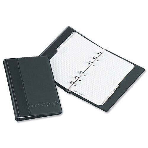 Telephone Address Book A5 Black Binder A-Z Index and 20 Sheets Concord CD2