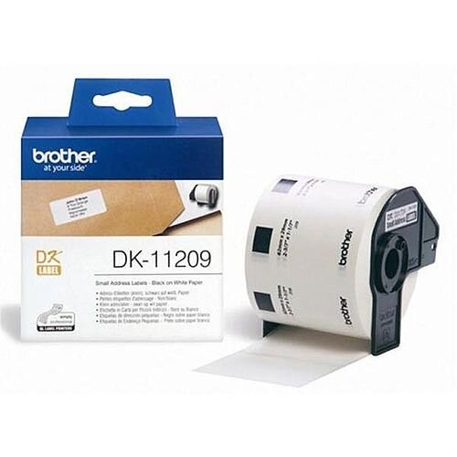 Brother P-touch DK-11209 29mm x 62mm Black On White Small Address Labels 800 Labels