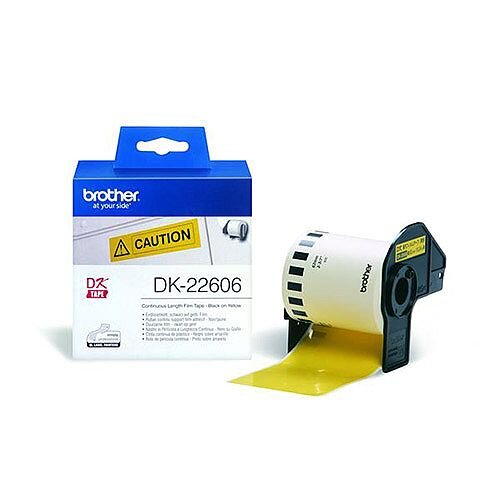 Brother P-touch DK-22606 62mm x 15.2m Continuous Yellow Film Tape