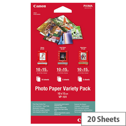 Canon Variety Pack Photo Paper A4 10x15 (Pack of 20) Ref 0775B078