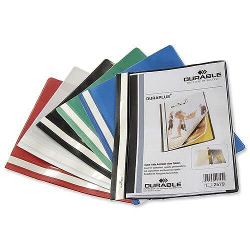 Durable Duraplus Quotation Filing Folder PVC A4 Blue Pack 25