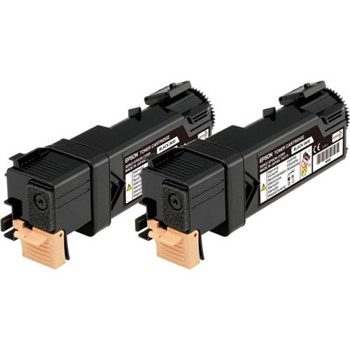 Epson Black Multipack Toner Cartridge (Yield 2 x 3000 Pages) for Epson AcuLaser C2900DN/C2900N Colour Laser Printers C13S050631