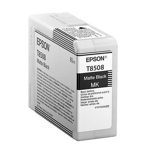 Epson T8508 (80ml) UltraChrome HD Matte Black Ink Cartridge for SureColor SC-P800 Photo Printer C13T850800